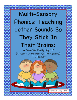 Action Alphabet & Chants To Help Make Letters & Sounds Stick-A HWRSI RTI Product