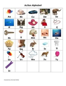 Action Alphabet Chart