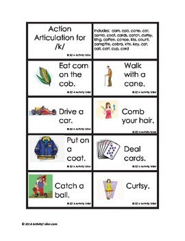 Action Articulation for K S and S blends