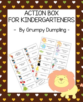 Action Box for Kindergarteners (uppercase letters)