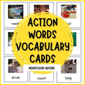 Action Cards For Toddlers - Inspired By Montessori