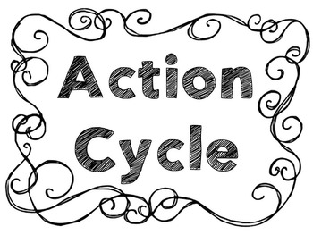 Action Cycle- Art B&W Swirl Border, IB PYP