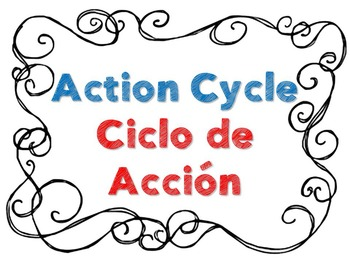 Action Cycle- B&W Bilingual Swirl Border Simple, IB PYP