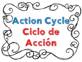 Action Cycle- Bilingual, B&W Swirly Frame