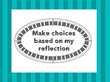 Action Cycle - Music Room IB PYP Piano Border