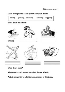 Action (Doing ) words /Verbs