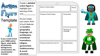 Action Figure Template - Historical Person, Novel Character, Science Object...