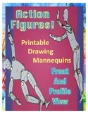Action Figures: Printable Drawing Mannequins