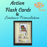 Action Flash Cards and Sentence Formulation, Nouns, Verbs,