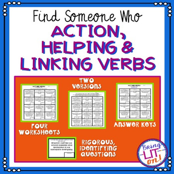 Action, Helping, and Linking Verbs - Find Someone Who