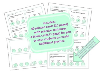 Action, Helping, and Linking Verbs Poke Cards