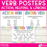 Verb Posters: Action, Helping, and Linking | FREE