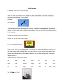 Action, Linking, Helping Verb Review