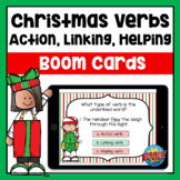 Action, Linking, Helping Verbs Christmas Boom Cards | Dist