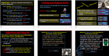 PowerPoints on Action, Linking, and Helping Verbs, Appositives and Prep Phrases