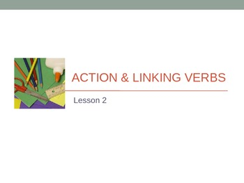 Action & Linking Verbs PPT