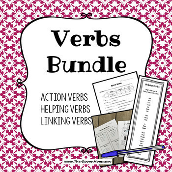Action, Linking, and Helping Verbs Bundle