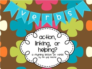 Action, Linking, and Helping Verb Flipchart for Promethean