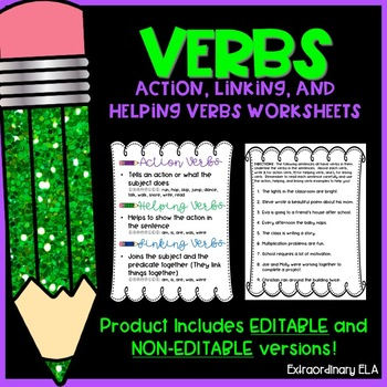 Action, Linking and Helping Verbs