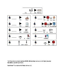 Action Object Worksheet
