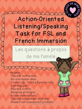 Action-Oriented Speaking Task - Les questions a propositio