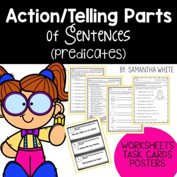 Action Parts (Telling Parts) of Sentences