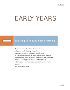 Action Plan Early Years