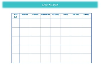 Action Plan Sheet for everyone who has goals