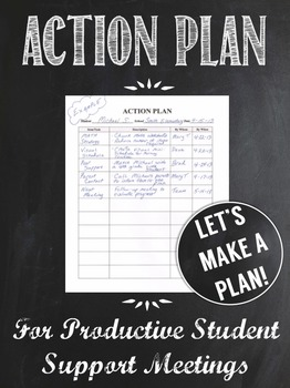 Action Plan for Productive Student Support Meetings