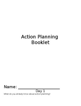 Action Planning Booklet for Health and/or Physical Education.