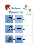 Action Sentence Strips
