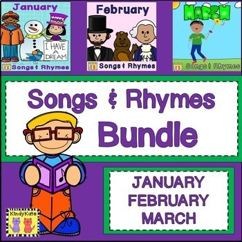Songs & Rhymes BUNDLE| January | February | March