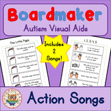 Action Songs x 2 - Boardmaker Visual Aids for Autism