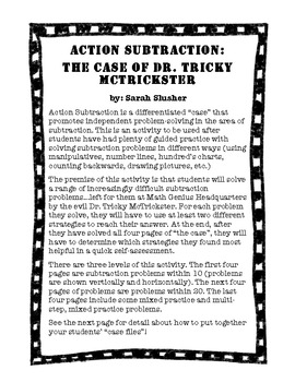 Action Subtraction: The Case of Dr. Tricky McTrickster