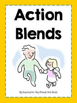 Two-Letter Blends Action Flash Cards