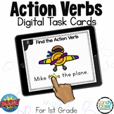 Action Verb Activities: First Grade BOOM Cards™ for ELA Centers