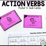 Action Verb Activities with Poster and Task Cards for Firs