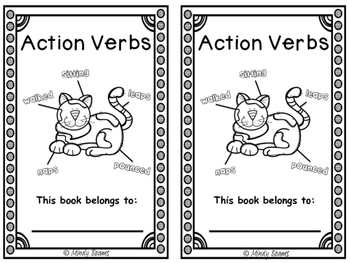 Action Verb Activity Pack - Interactive Book Included