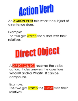 direct and indirect object exercises pdf