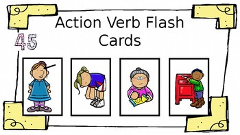 Action Verb Flash Cards: Language Therapy, Grammar