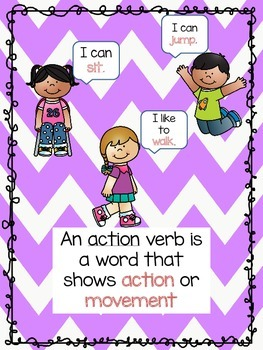 Action Verb Mini Unit