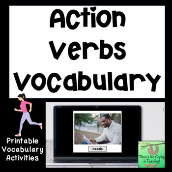 Action Verb Photo and Word Cards