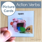 Action Verb Picture Cards | Photo Card Visuals for Autism AAC Pre-K Elementary