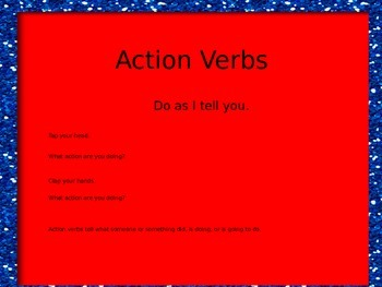 Action Verb PowerPoint