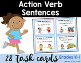 Action Verb Sentence Picture Match Task Cards