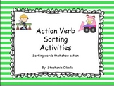 Action Verb Sorting Activity: sorting words that show action