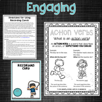 Action Verb Task Cards and Activities