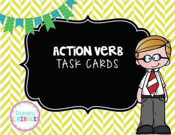 Verb Task Cards (2 Sets)