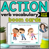 Action Verb Vocabulary (Level 4 Unfamiliar Verbs) | BOOM CARDS™