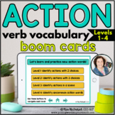 Action Verb Vocabulary Levels 1-4 | BOOM CARDS™
